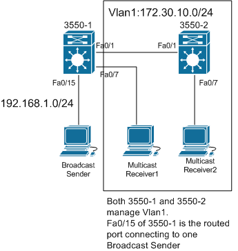 For Testing only: Broadcast to multicast translation and multicast