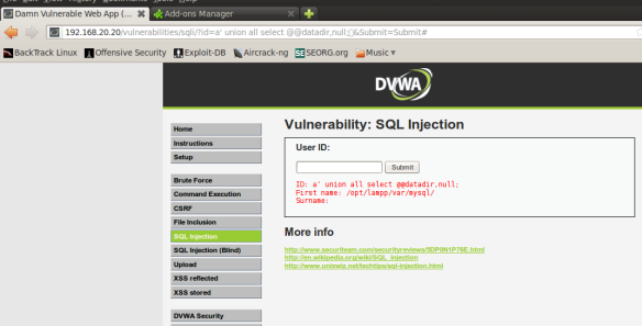 Web Application Pentesting: Manual SQL injection | The Network Journal