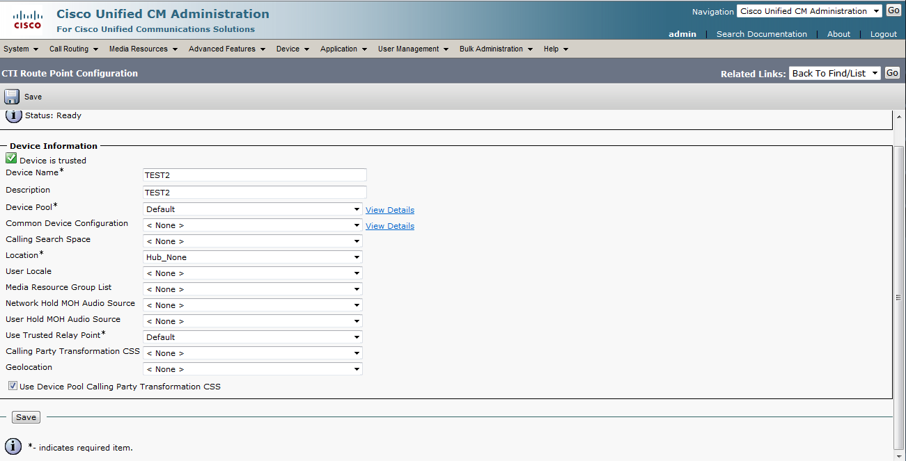 CUCM and Cisco Unity Connection: Calling internal line from