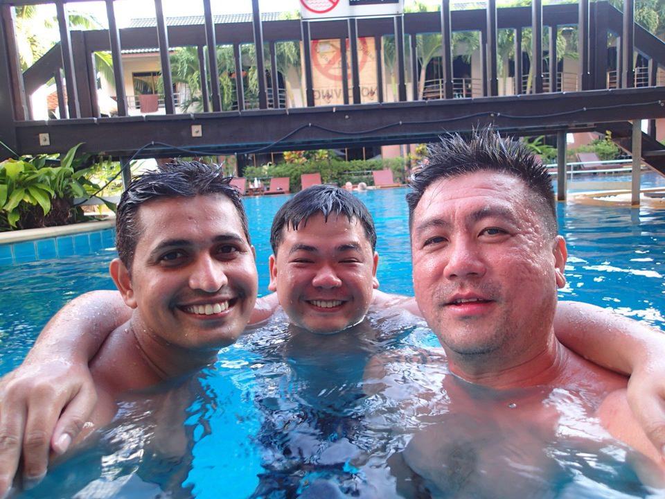 Herman, Rajkumar and I in Phuket.