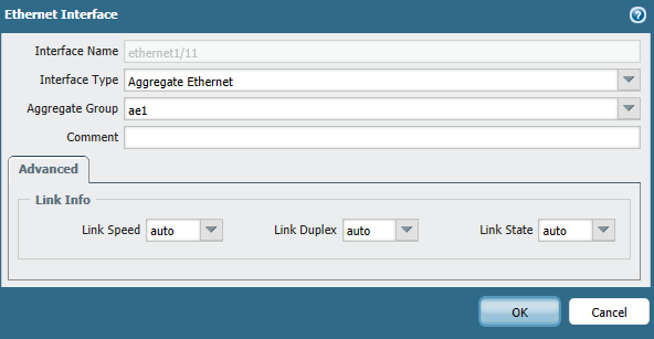 Simply choose Aggregate Ethernet from interface type and select the created aggregated group.