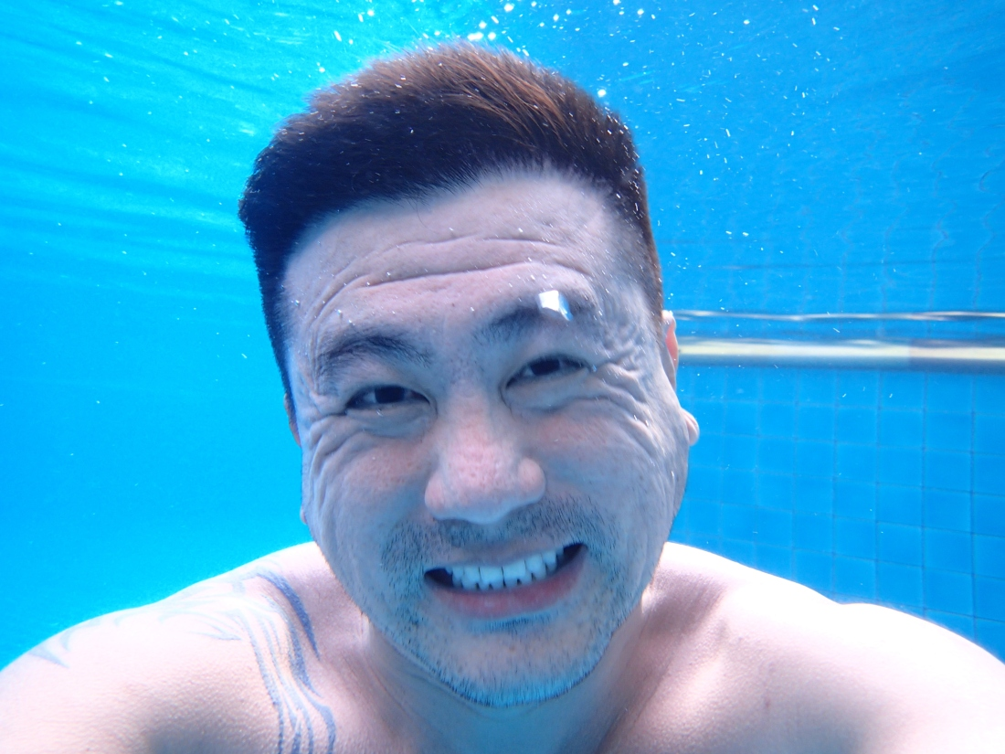 Herman tried to take picture with his water proof camera, this was one of the many tries he had taken...