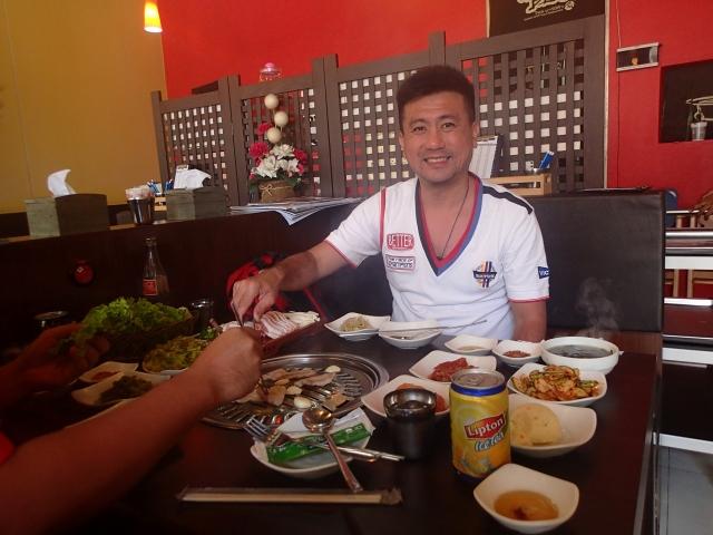 Herman, in a Korean restaurant in Phuket.