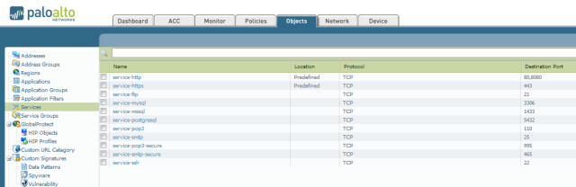 These are my defined layer4 ports that I assigned to service.