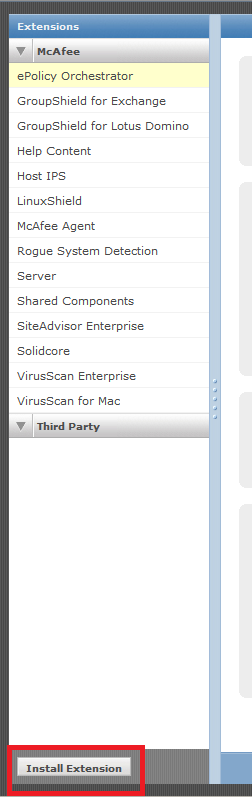 Click on Install Extension at the bottom left of the panel. You saw there is an item known as Solidcore because I had already installed the extension.