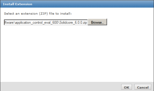 The extension file name is usually name solidcore_, in my case i downloaded the eval version 6.0.0 so the filename is solidcore_6.0.0.zip, this file is usually very small.