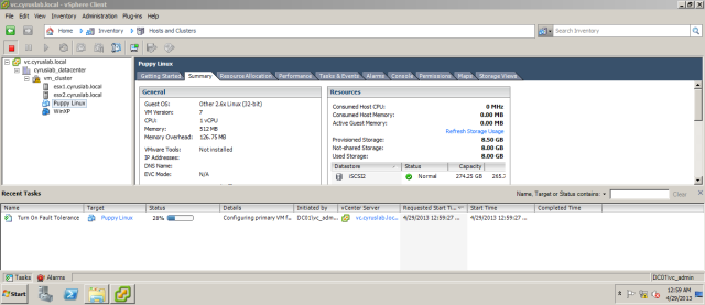 The process will replicate the vm on both VMware host, so that both hosts will contain an identical VM each.