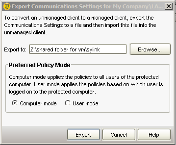 You may wish to export your sylink.xml file to your thumb drive or share folder.
