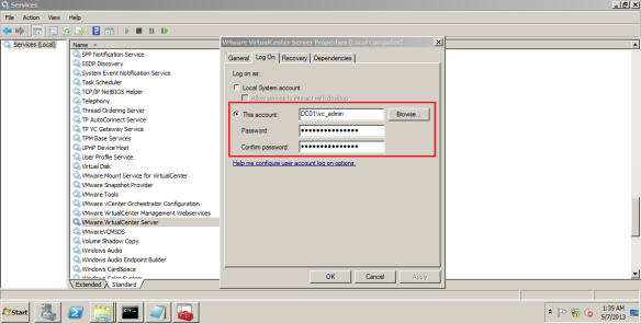 Troubleshoot: VMware VirtualCenter Server service cannot