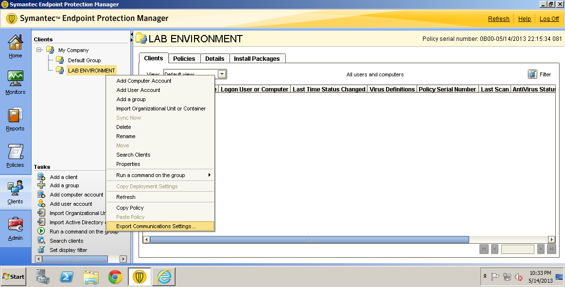 Symantec endpoint protection not updating clients virus definitions