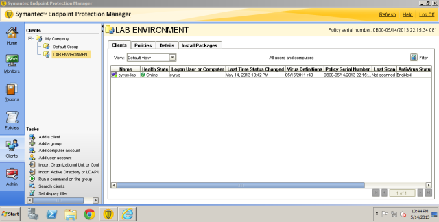 Refresh your SEPM you will see your managed SEP.