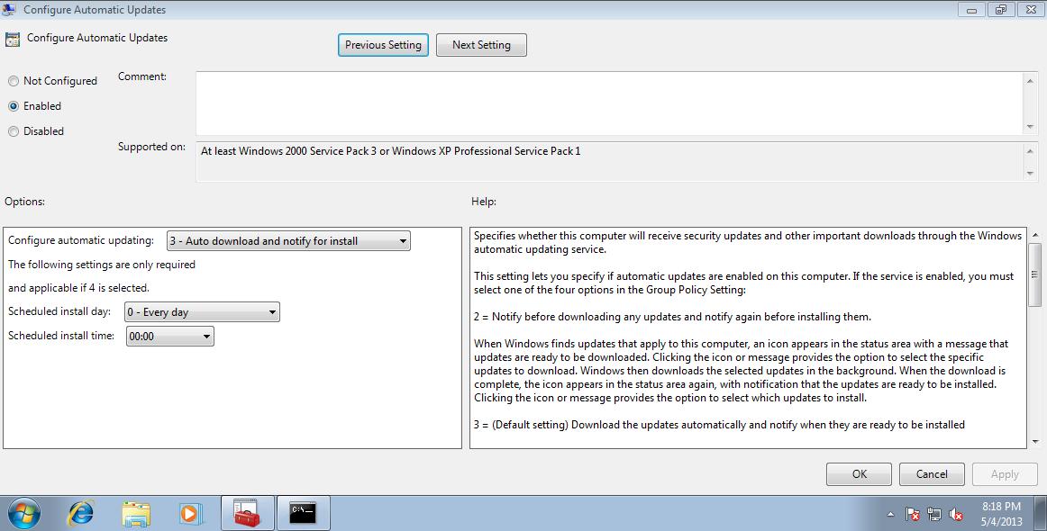Windows Server Update Service: Add WSUS client – cyruslab