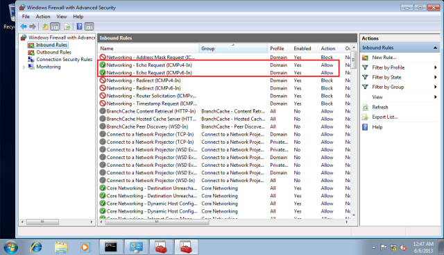 The rules in the red box are the rules from the group policy.
