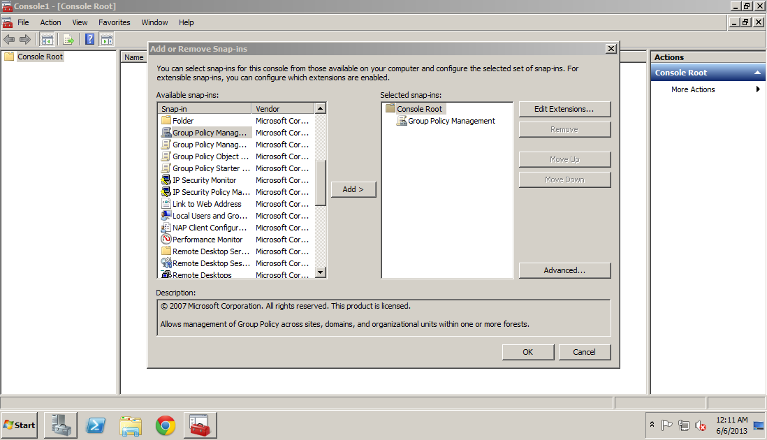 MMC, select File > Add/Remove Snap-in or use short cut key CTRL-M, then select Group Policy Management, and save the snap-in.