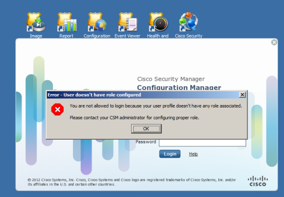CSM: Authentication by TACACS+ and Authorization by CSM | The