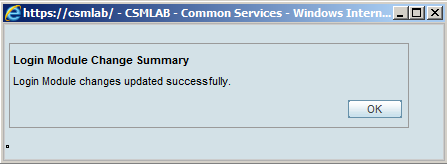 Successful notification.