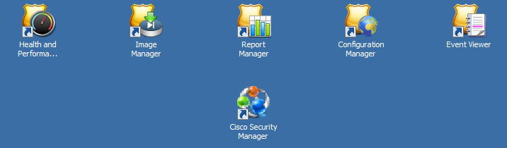 Cisco Security Manager is a web application to manage CSM server. Backend database, user credentials, emails etc are set up here.