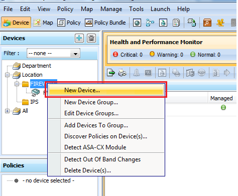 You can create your own device group for easier and organized device management.
