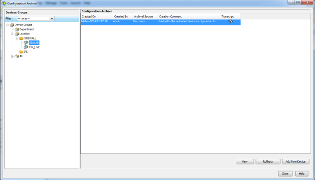 Configuration Archive