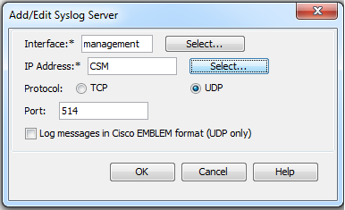 CSM is the object I have created with Cisco Security Manager.