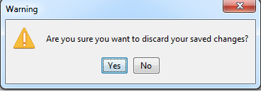 Click yes to discard.