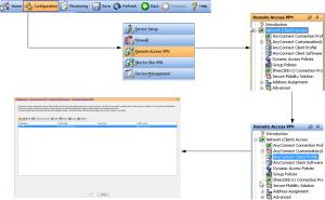 ASDM anyconnect profile editor navigation flow