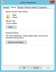 Right click on the folder, and choose properties. Then click on Sharing, and click Advance Sharing.