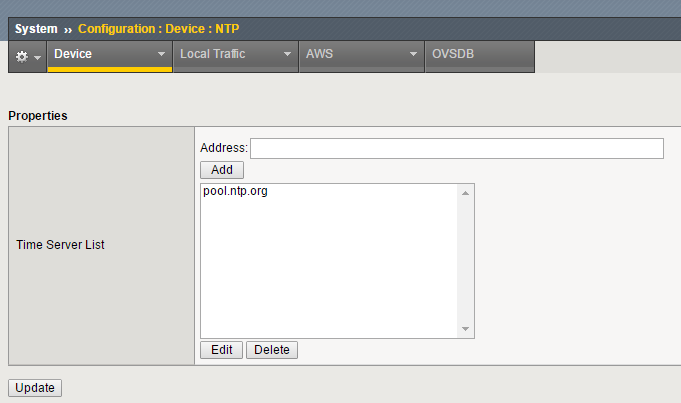 configuring ntp for bigip