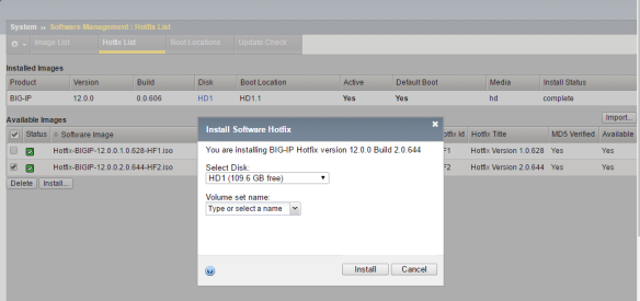 Installing bigip hotfix | The Network Journal