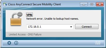 Anyconnect VPN client: Login denied, unauthorized connection